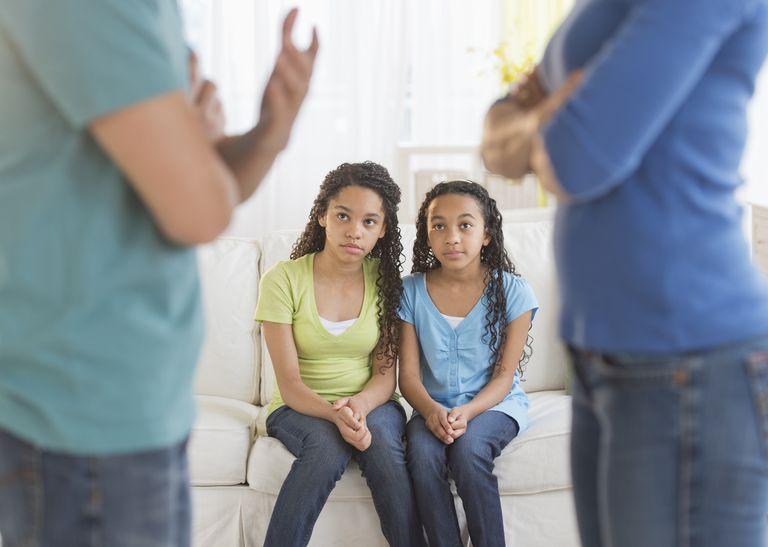USA, New Jersey, Jersey City, Parents quarreling