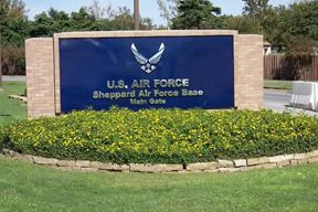 Gate entrance to Sheppard AFB