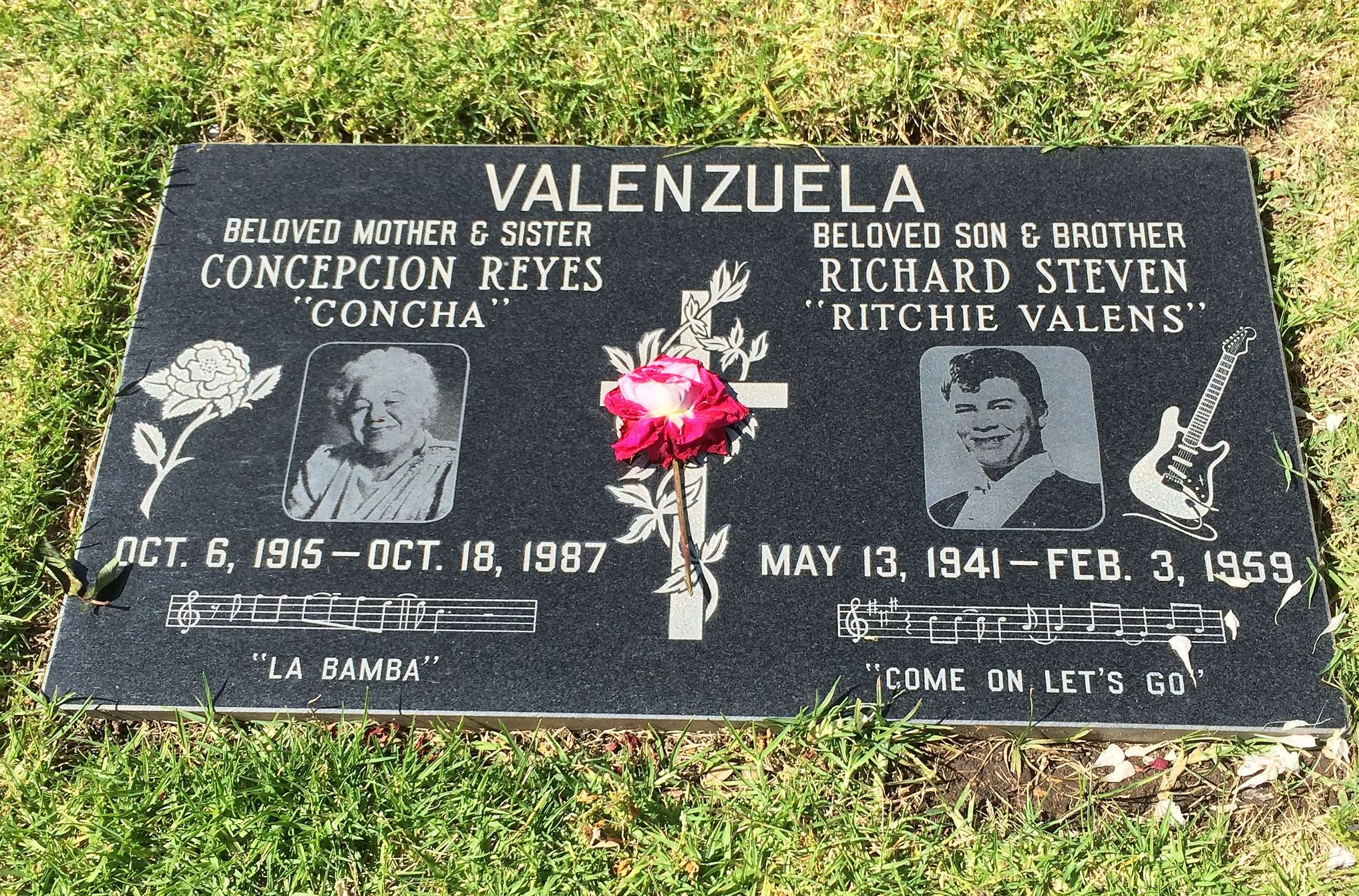 Ritchie Valens tombstone
