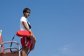Standing Life Guard