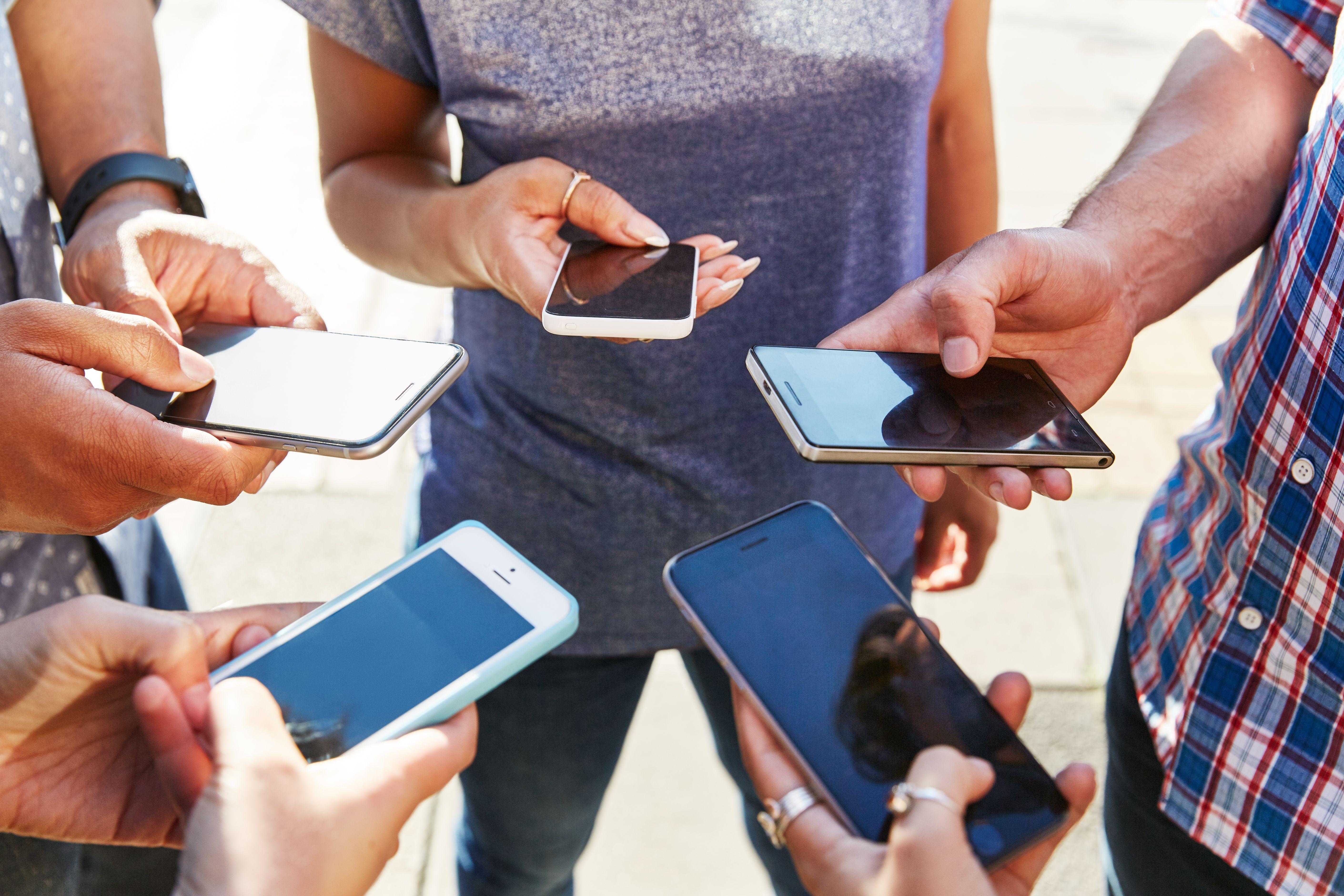 People Entering Social Media Sweepstakes