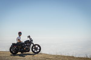 Rider on motorbike