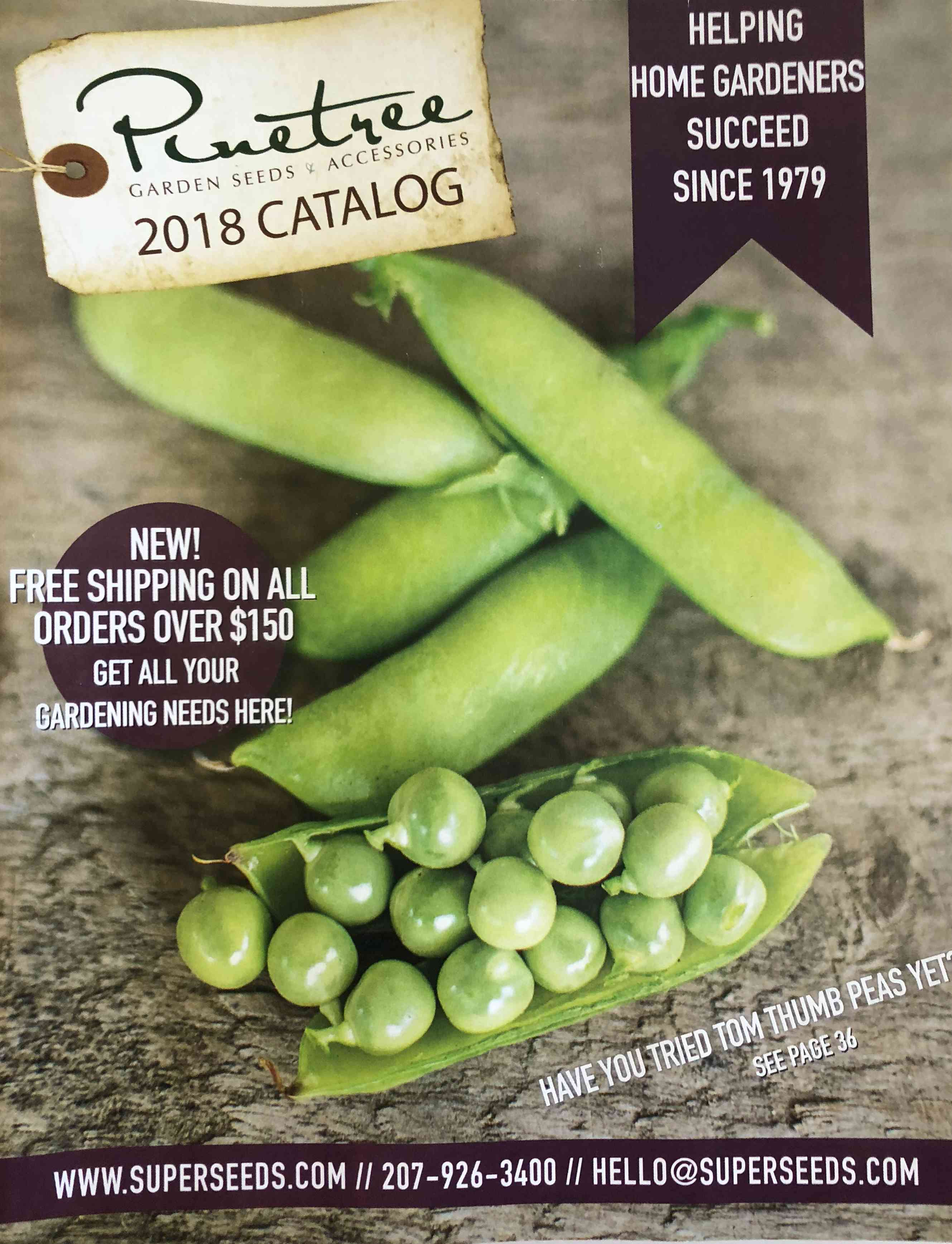 The Pinetree Garden Seeds 2018 seed catalog