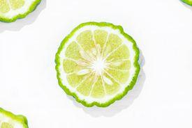 Slice of bergamot fruit