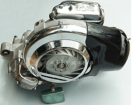 150-cc 2-stroke engine.