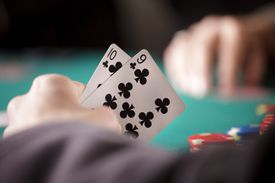 A poker player's cards
