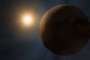 Pluto illuminated by a distant sun