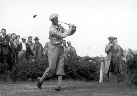 Byron Nelson at the 1937 Ryder Cup