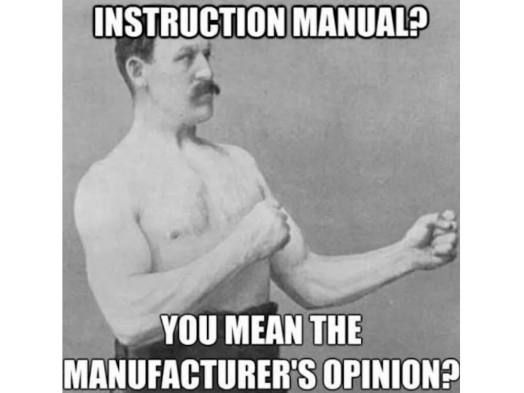 An image of the Overly Manly Man meme.