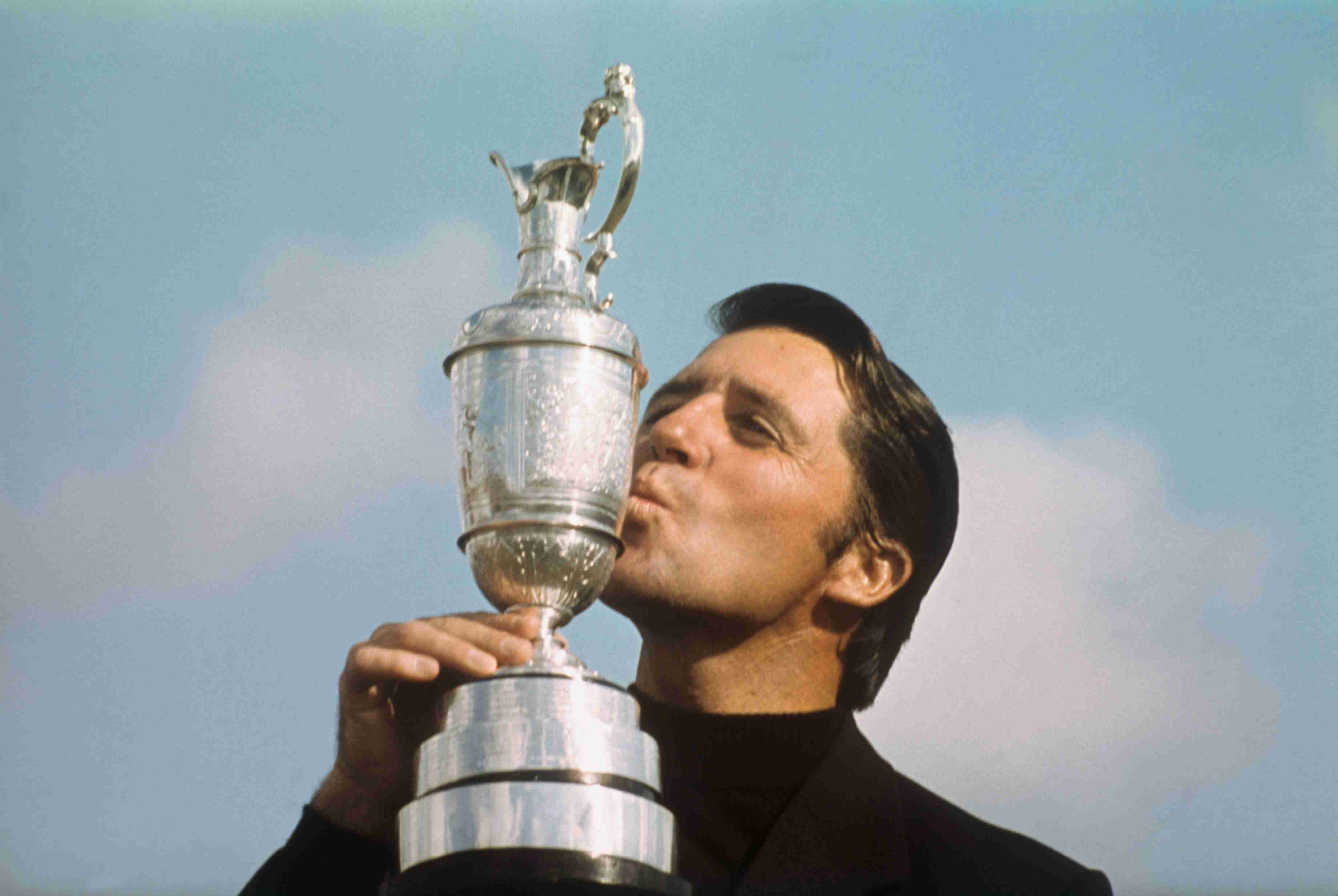 Gary Player with the Claret Jug after winning the 1974 Open Championship