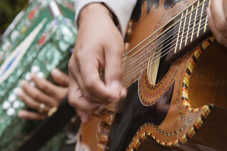 Strumming on a Mexican Guitar