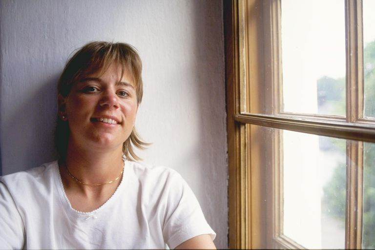 Portrait of golfer Annika Sorenstam taken in 1996