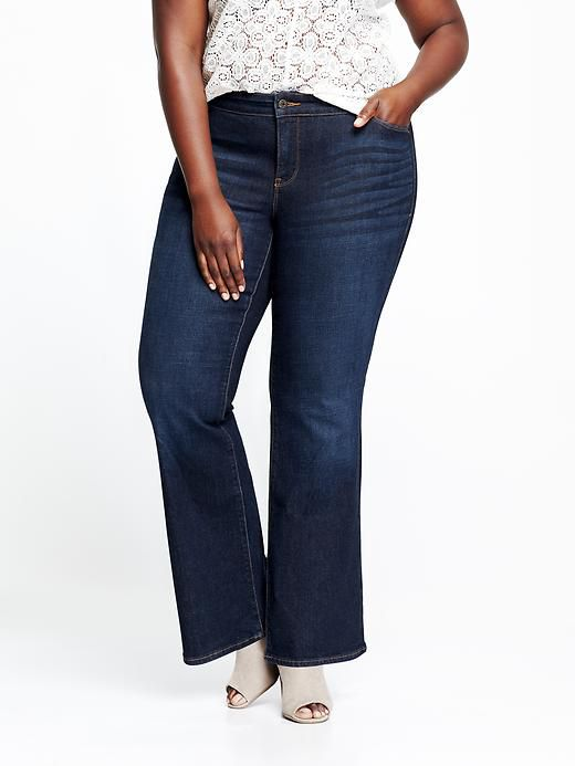 47fa2b569b3 ... Plus Size. Old Navy Smooth   Slim Mid-Rise Boot-Cut Jeans