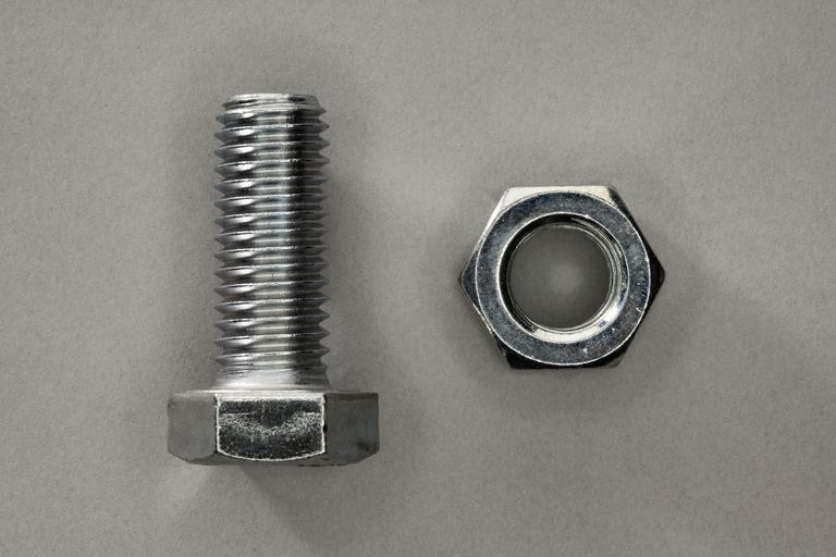 A reverse-thread bolt and nut