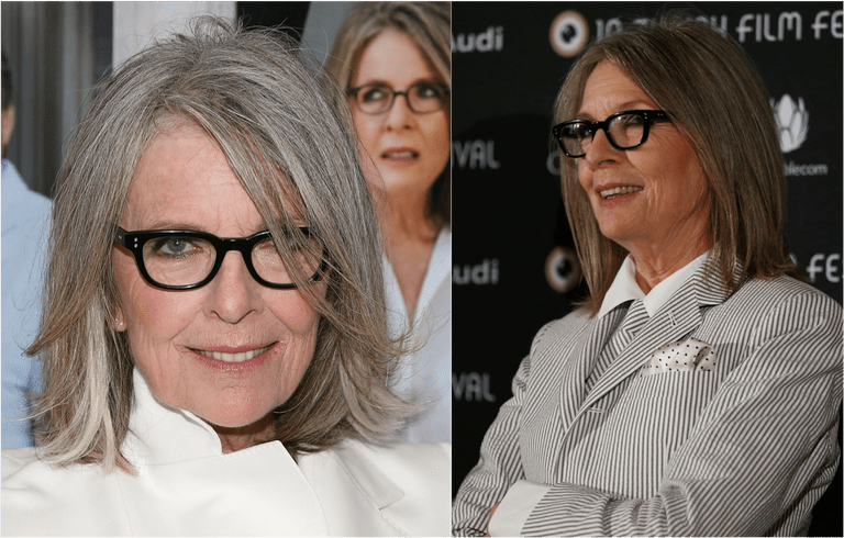 f1975c48066f Diane Keaton in two different shoulder length haircuts