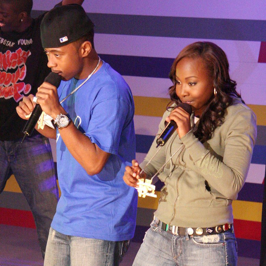 Webstar and Young B performing