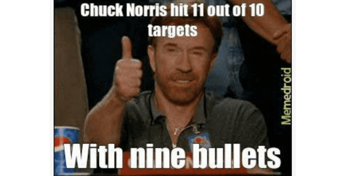 chuck norris target meme
