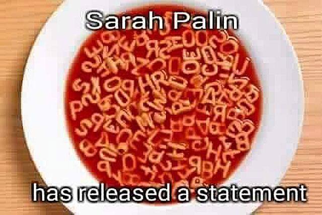 Sarah Palin Alphabet Soup