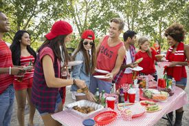 A summer BBQ party