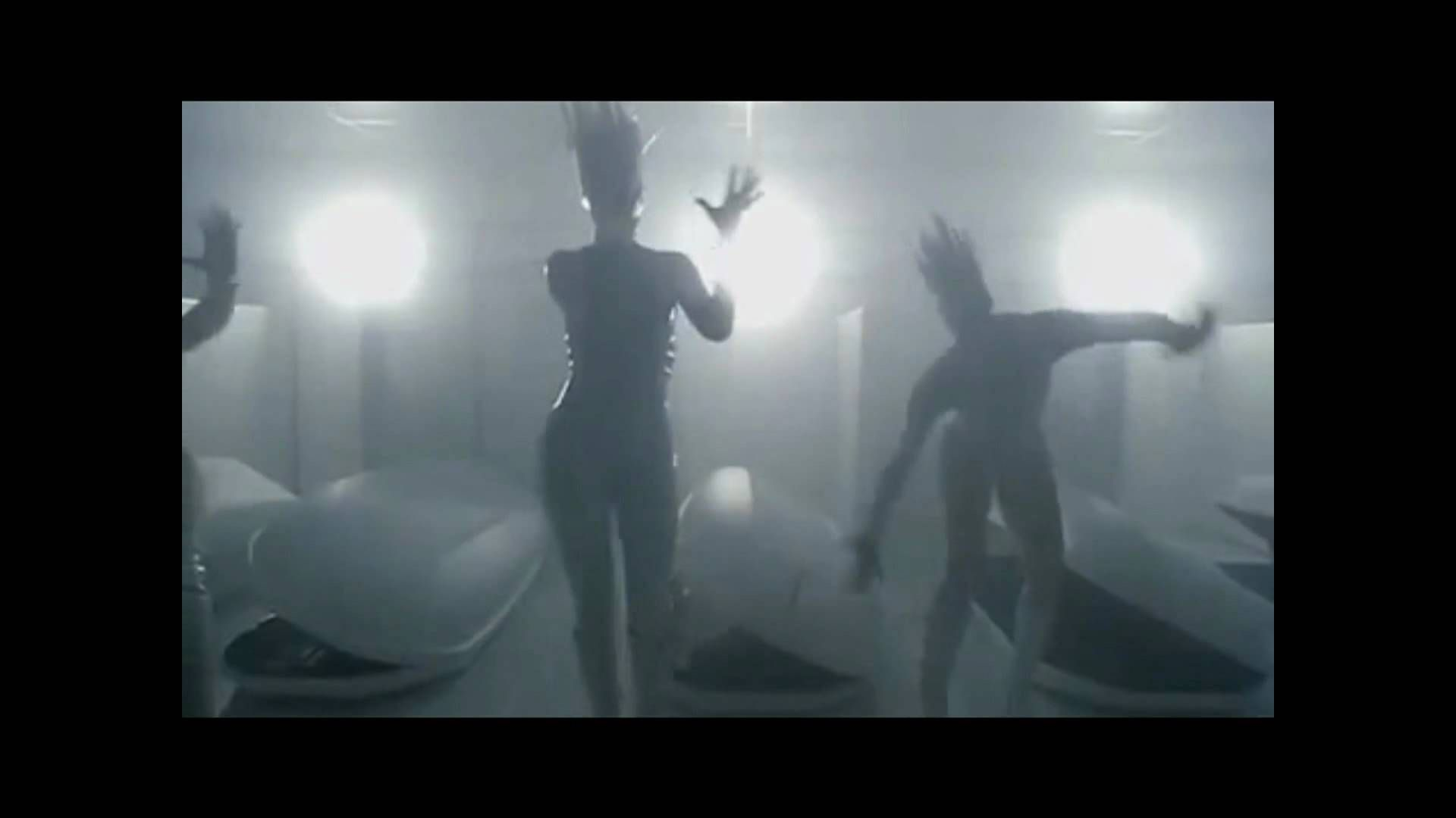 "Screenshot from the Lady Gaga ""Bad Romance"" music video."