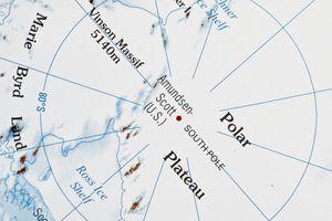 Partial map of Antarctica