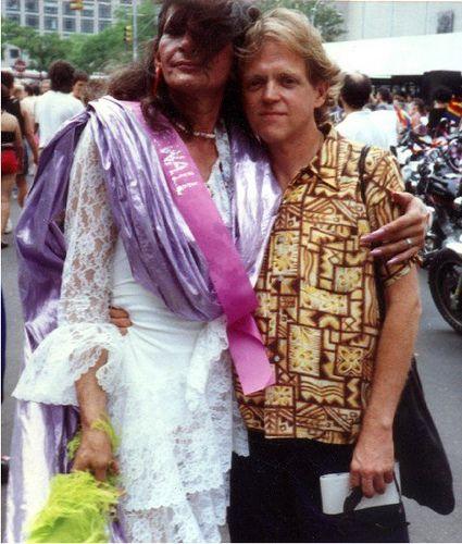 Sylvia Rivera & Friend at Gay Pride