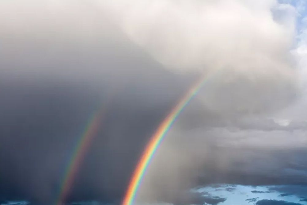 Picture of a double rainbow