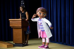 Former First Lady Michelle Obama and Dottie