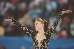 Oksana Baiul skates at the 1993 Skate America