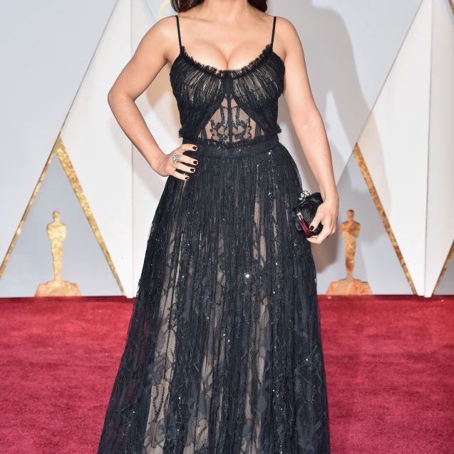 Selma Hayek red carpet 2017 Oscars
