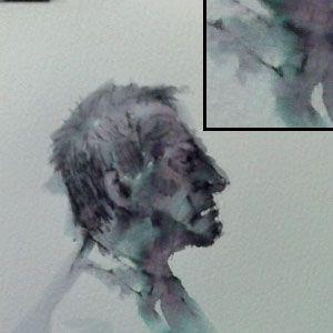 Water-based ink portrait