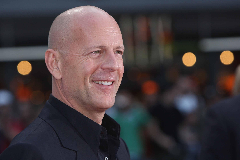Actor Bruce Willis attends the German premiere to Die Hard 4.0