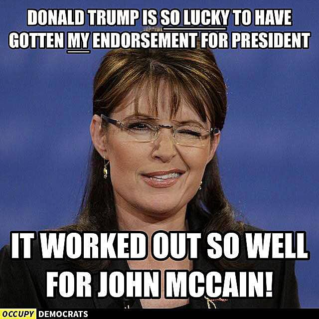 Sarah Palin Endorsement of Trump