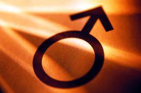Male Symbol on Orange Background