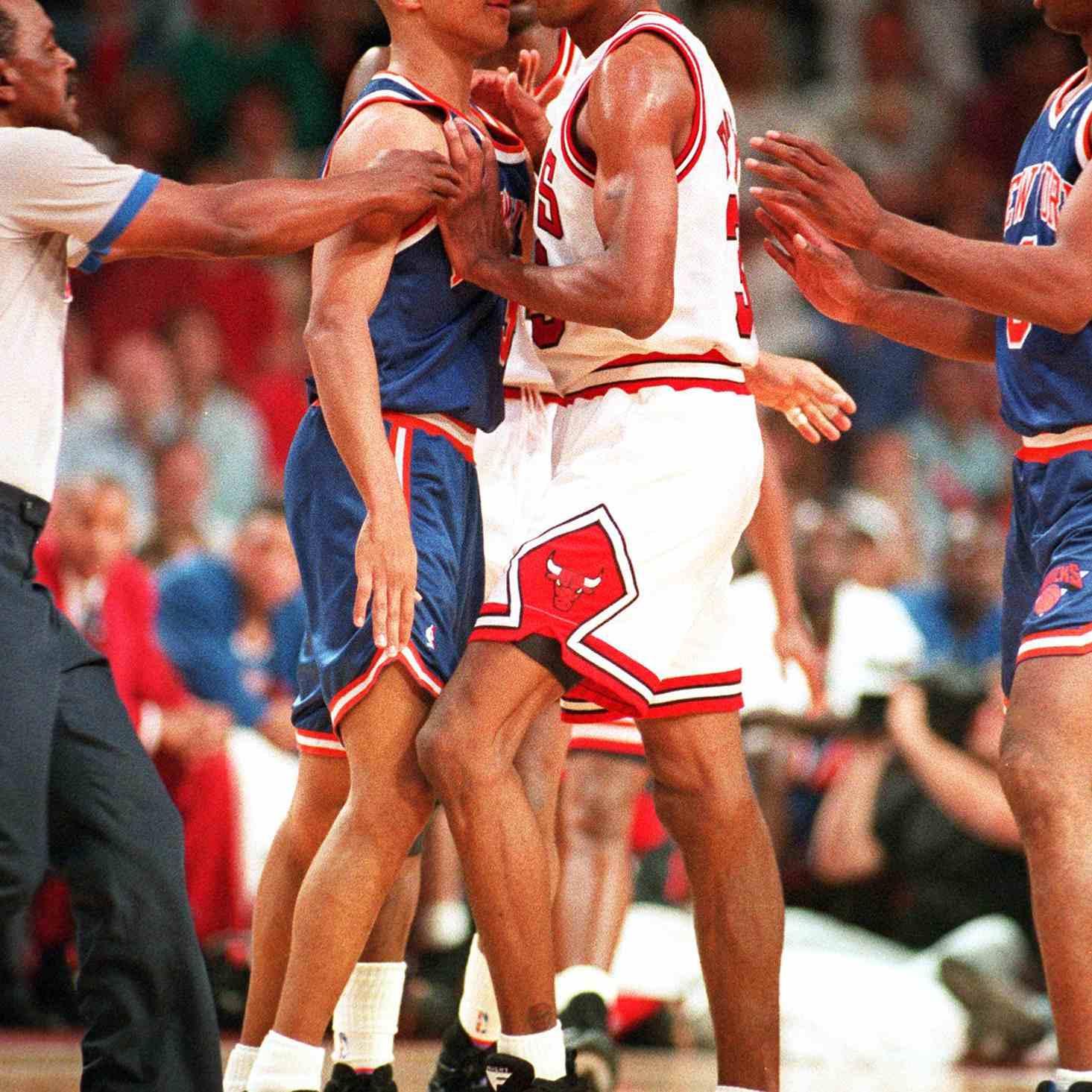 Scottie Pippen wearing Nike Air Maestro