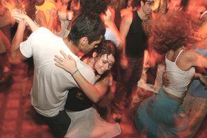 People dancing the samba