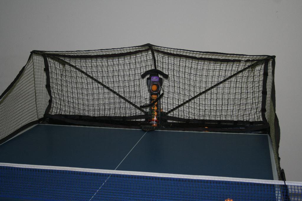 Photo of Newgy Robo-Pong 2050 table tennis robot - front view