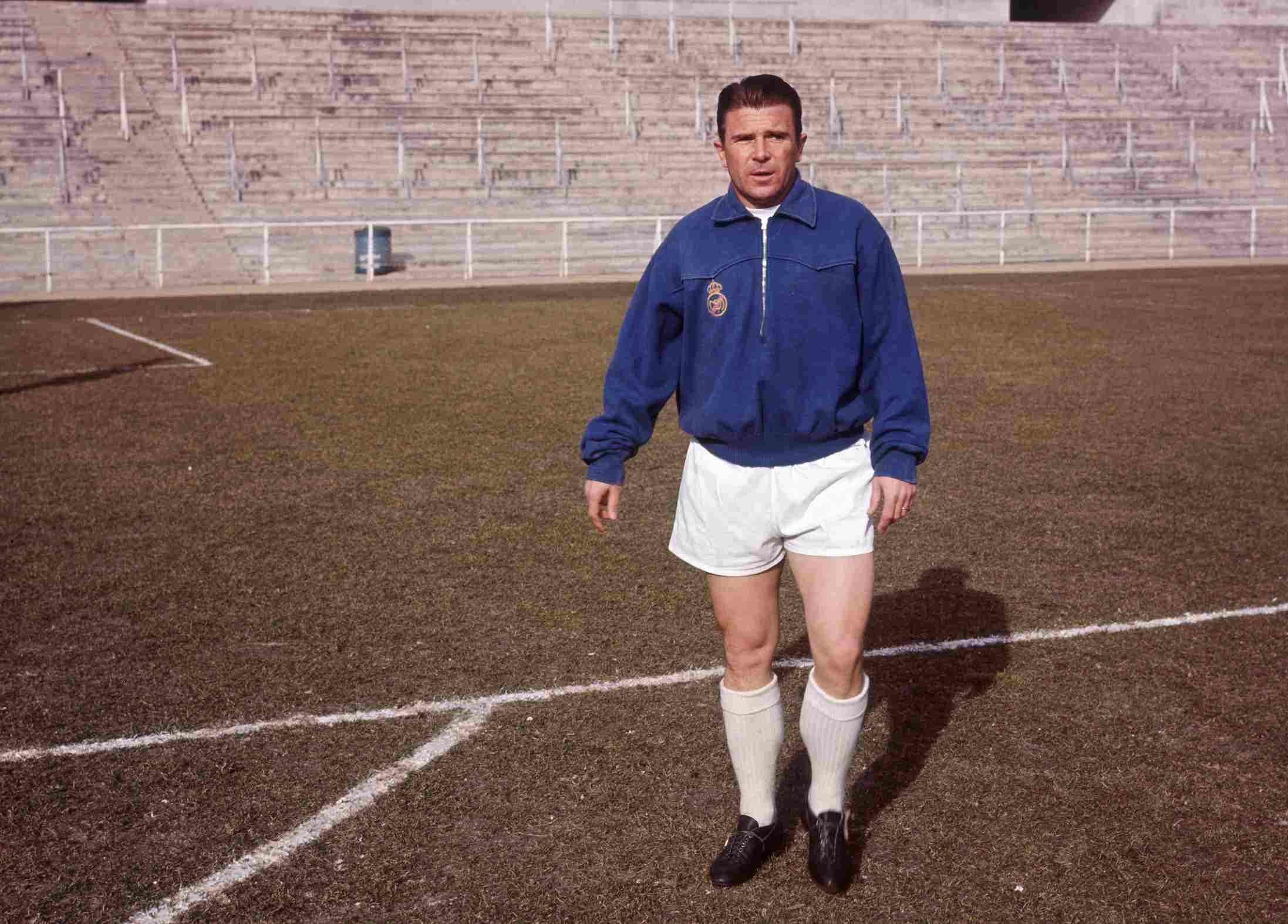 Portrait of Ferenc Puskas, soccer player of Real Madrid.