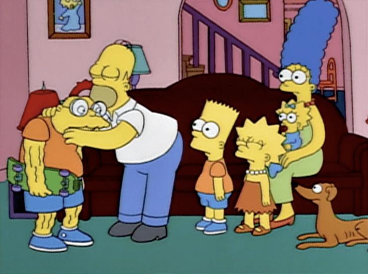 Hans Moleman as Bart Simpson