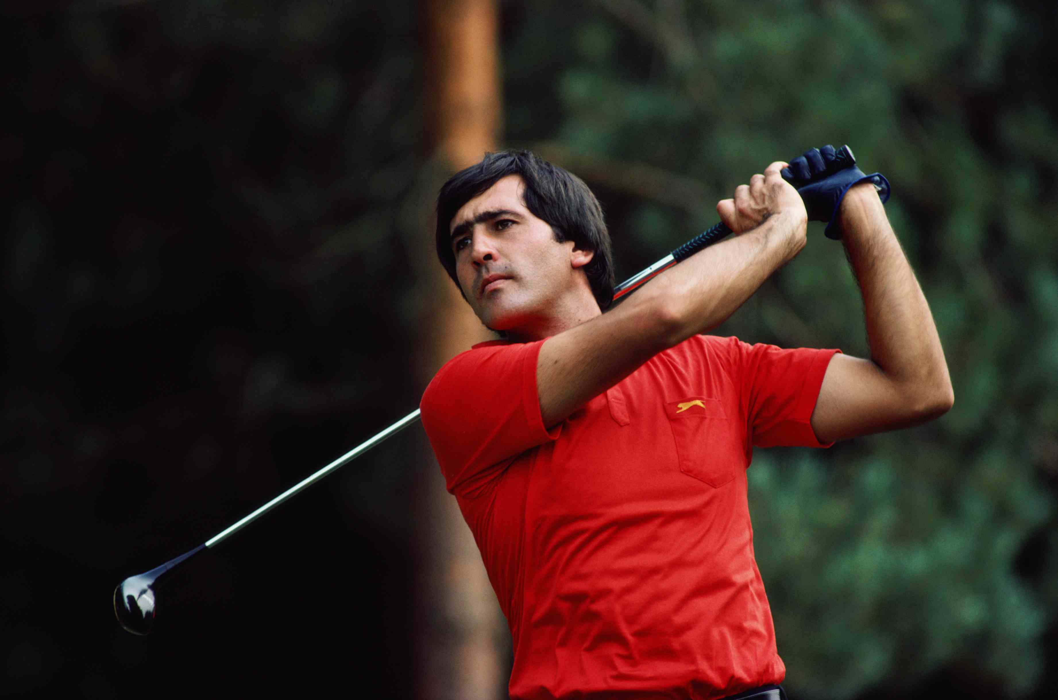 Seve Ballesteros competing in the European Open at Sunningdale Golf Club, Berkshire, 1983