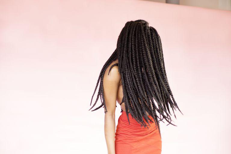 woman with black braided hair