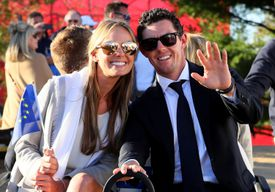 Erica Stoll and Rory McIlroy at the 2016 Ryder Cup opening ceremonies