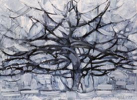 The Grey Tree, 1912, oil on canvas, by Piet Mondrian, Netherlands, 20th century, 78x107 cm.