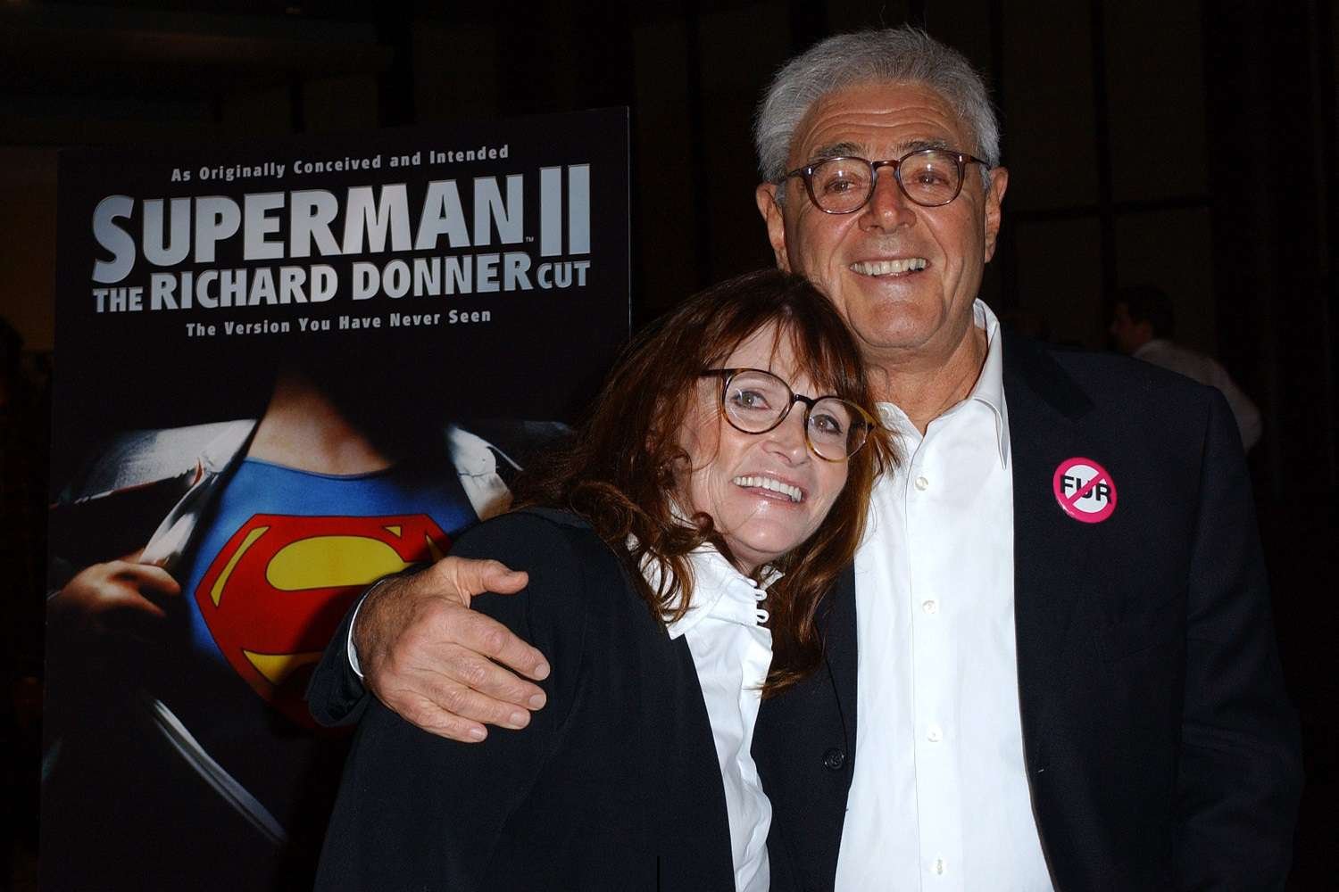 Actress Margot Kidder and director Richard Donner at the 2006 premiere of Superman II: The Richard Donner Cut