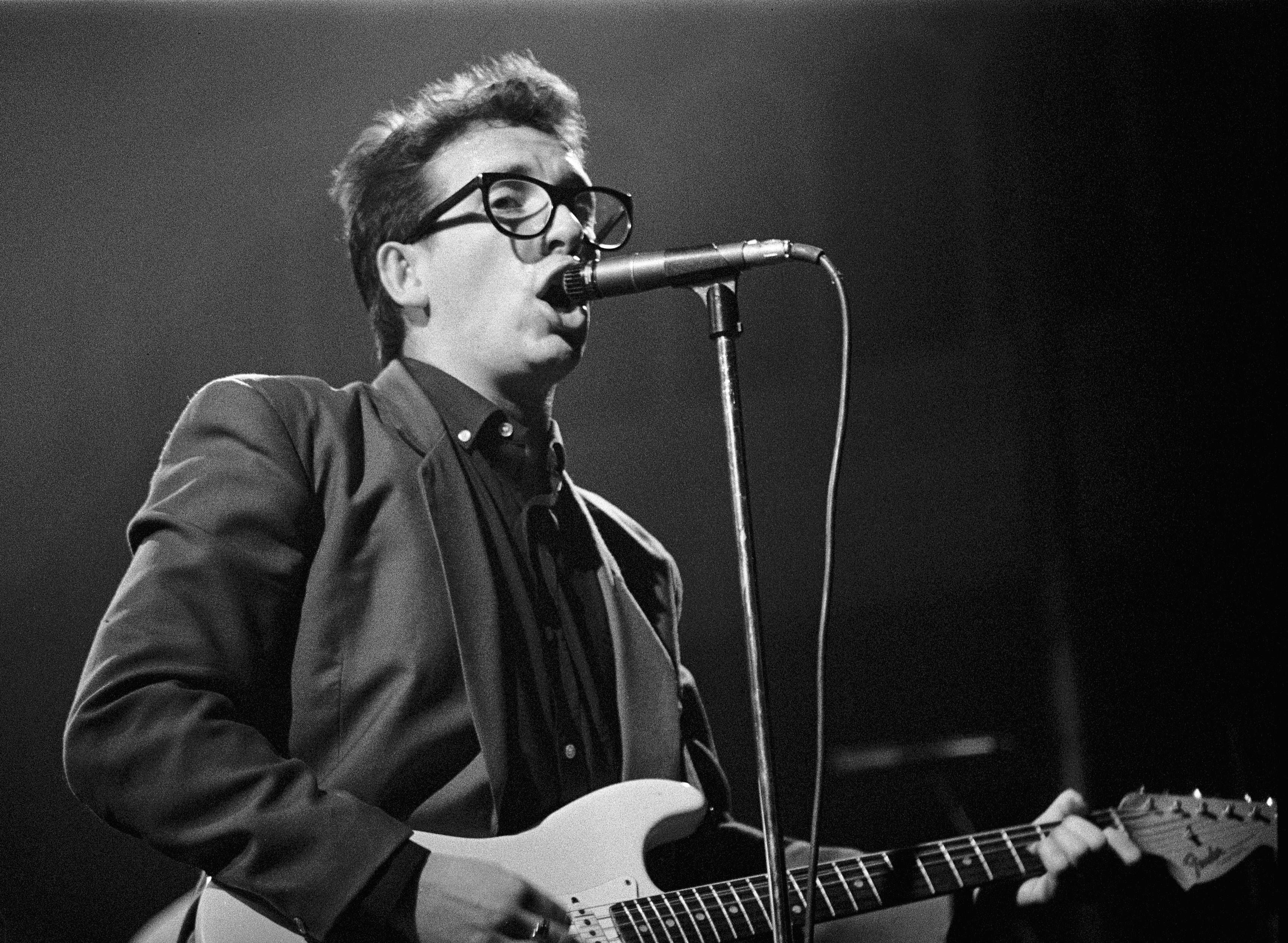 Elvis Costello performing