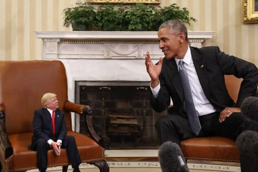 Tiny Trump Meets Obama