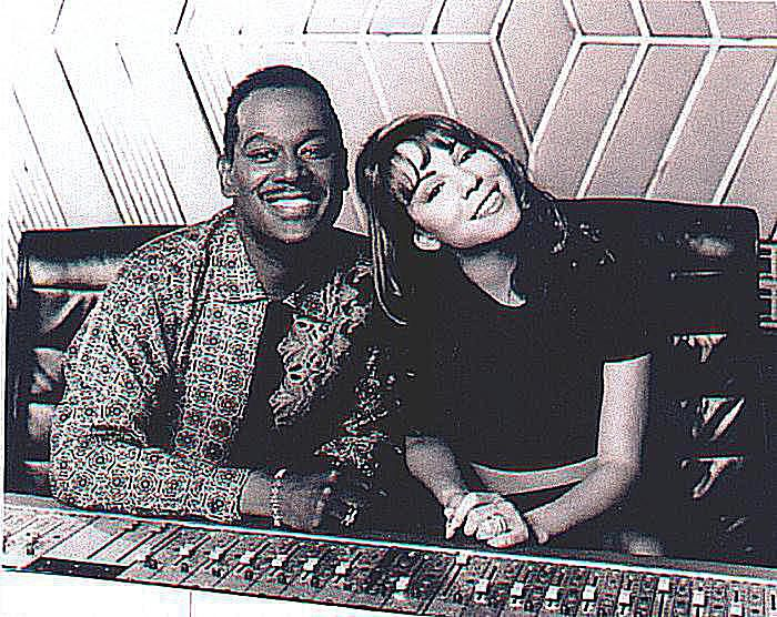Luther Vandross and Mariah Carey in the studio