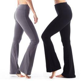 Flared yoga pants