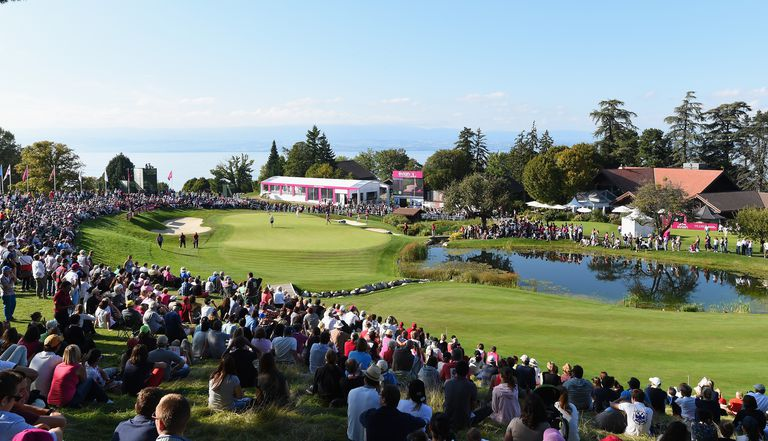 General view of the golf course during the Evian Championship tournament