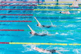 Female swimmer swimming
